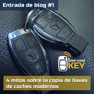 4 mitos sobre la copia de llaves de coches modernos